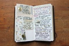 """Recent Journaling: Traveler's Notebook Peek No. 7.  I haven't read the article to know whether this is actually a """"travelers' journal"""" but it looks like it's more a carry-around type of journal"""