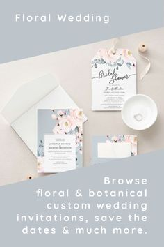 Create your dream theme. From save the dates and invitations, to decor, favors, and gifts, plan your floral, forest or botanical wedding. The easy-to-use template designs are ready to be personalized with love and care for your special day.