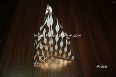 Kids craft - DIY tabletop cardboard christmas tree