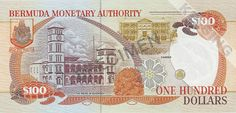 Bermuda Dollar   Bermuda Dollar 100 achterzijde