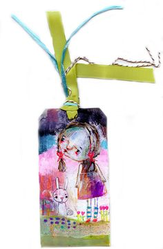 A Rabbit Came Near original art tag by Mindy by timssally on Etsy, $28.00