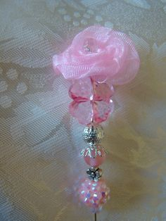 MMM Dreamy Pink Christmas Stick Pin for  Scrapbooking by marysmist, $2.99