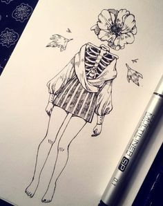 We're almost a week in October and I have not missed a day, you … - ART Drawing Dark Art Drawings, Art Drawings Sketches, Cute Drawings, Pretty Art, Cute Art, Arte Horror, Aesthetic Art, Art Inspo, Art Reference