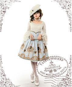fanplusfriend - Ten O'Clock Cinderella, Rococo Lolita Elegant Gothic Steel Boned High Waist Skirt*2colors Instant Shipping, $82.00 (http://www.fanplusfriend.com/ten-oclock-cinderella-rococo-lolita-elegant-gothic-steel-boned-high-waist-skirt-2colors-instant-shipping/)