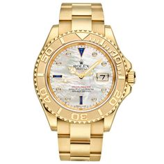 Rolex Yellow Gold Yacht-Master Wristwatch with Mother-of-Pearl Dial Ref. 16628