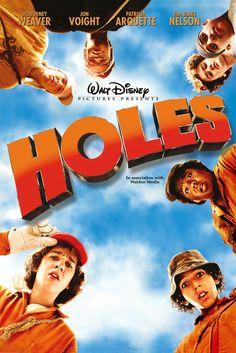 Holes Movie Poster - Sigourney Weaver, Jon Voight, Patricia Arquette  #Holes, #MoviePoster, #AndrewDavis, #KidsFamily, #JonVoight, #PatriciaArquette, #SigourneyWeaver
