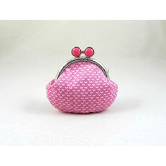 Pink coin purse, frame coin pouch, cotton coin purse, for her,... (480 UAH) ❤ liked on Polyvore featuring bags, wallets, coin pouch wallet, pouch bag, cotton wallet, pink wallet and white wallet
