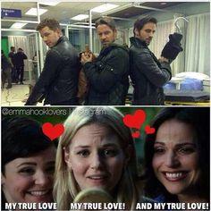 TRUE LOVES #REGINA#EMMA#SNOW #DAVID#ROBIN#HOOK