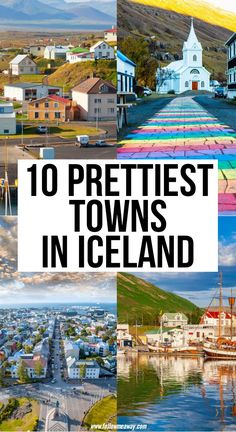 10 Prettiest Cities and Towns in Iceland See all the most beautiful towns in Iceland with this handy guide! Find out exactly where to go and what to see, and enjoy everything Iceland has to offer! Top Travel Destinations, Best Places To Travel, Cool Places To Visit, Places To Go, Vacation Places, Vacations, Iceland Travel Tips, Europe Travel Tips, European Travel