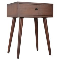 Mid-Century Single Drawer Wood Side Table | Overstock.com Shopping - The Best…