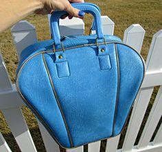Vintage Richard Milton Ajay Bowling Bag Aqua Blue by DollFood