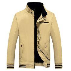 Mens Winter Velvet Plus Thick Warm Fashion Casual Jacket 5 Colors