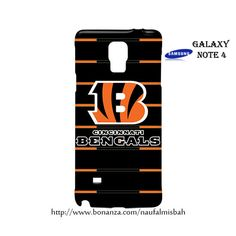 Cincinnati Bengals Logo Samsung Galaxy Note 4 Case Cover Wrap Around
