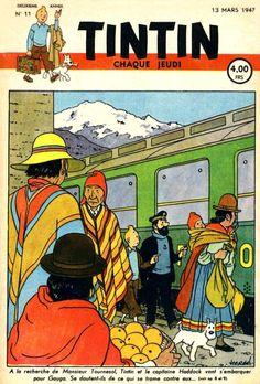 Journal Tintin édition Belge - N°11 - 13 mars 1947 http://jpdubs.hautetfort.com/archive/2012/05/07/le-temple-du-soleil.html