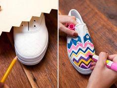 Fantastic!   18 DIY: New Shoes, DIY Fashion Sneakers