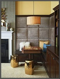 Compliment the set-up with a lot of cushions for a comfortable seating, lamp hanging from the ceiling and it becomes a perfect place for play.  #HomeGrownDecoration #InteriorDesignIdeas #HomeDecorIdeas #Decorateyourhome #Interior #Interiordesign #DreamHomeInteriors #decoratedreamhome #dreamHome #HomeSweetHome #InteriorDecoratingIdeas #corner #cornerspaceideas #cornerspacedecorideas
