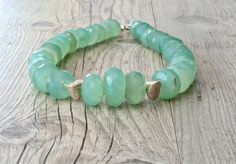 Aqua Chalcedony Necklace Over Size Chunky by SunSanJewelry on Etsy