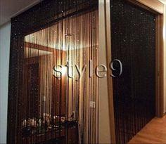 rideau s parateur de pi ce en mat riaux diff rents pour se. Black Bedroom Furniture Sets. Home Design Ideas