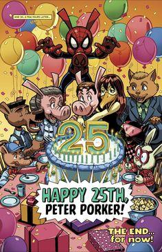 Peter Porker celebrates his birthday in Amazing Spider-Ham 25th Anniversary