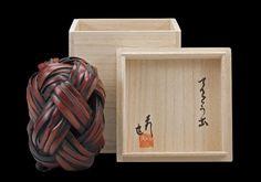 "70jy LADY BUG bamboo, glass, kiribako box 7"" x 5"" x 5"", 2009"