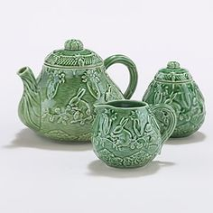 Our Verde Bunny Tea Collection comes from a world famous Portuguese ceramic factory that has been delivering unmatched style to tabletops since 1884. Crafted in Portugal exclusively for World Market, these essential pieces featuring a springtime scene look like treasured family relics from the Old World.