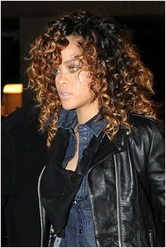 I need my fro to look like this. Ombre with honey tips