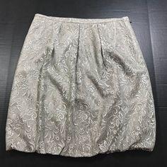 79f6887bac98 Ann Taylor Loft woman Lace Skirt NWT Gray Olive Green Size 12 Rayon Nylon  1039