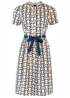 Orla Kiely Love Birds Shirt Dress - 100% organic cotton