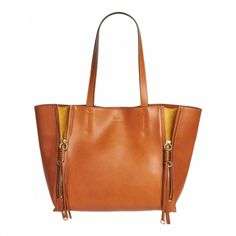 f2969bd3b Chloe Caramel Brown Leather Large Milo Tote Bag. BrandAlley