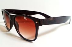 Wafarer-Sunglasses-Brown-or-Black-Glossy-Frame-Gradient-Lenses-Spring-Hinges