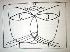 Paul Klee Paintings The Cat | Step #5: Use your choice of mediums to finish your project. Check out ...