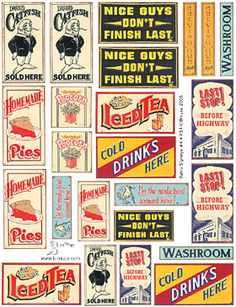 Would love to do a collage similar to this behind our home bar, only with signs of our favourite beverage brands.