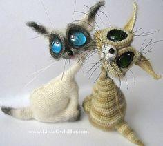 Cat Siam Crochet Pattern Amigurumi toy by Pertseva
