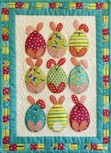 Are they Easter Bunnies or Easter Eggs? We don't know but we do know you will have fun making this little wall hanging. http://patchworkbliss.com.au/easter-egg-bunnies/