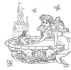 Princesas Da Disney Desenhos Para Colorir Imprimir E Pintar Ariel Coloring PagesPrincess