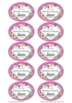 Great British Summer Strawberry Jam Jar Labels Canning