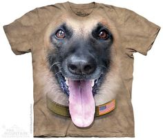 BIG FACE BELGIAN MALINOIS T-SHIRT