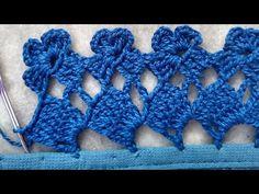 Hand Embroidery Stitches, Crochet Stitches, Knit Crochet, Crochet Edging Patterns, Crochet Borders, Crochet Doilies, Crochet Flowers, Saree Kuchu Designs, Flower Model