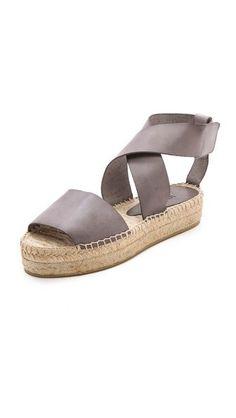 Elise Espadrille Flat Sandals - Vince Elise Espadrille Flat Sandals