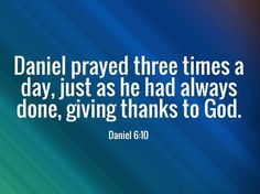 The Bible instructs us to give thanks in all circumstances. When Daniel heard that a law had been passed forbidding prayer, what was his response? He gave thanks to God just as he always had done. He knew whether he lived or died his deliverance was in his praise: his praise would either close the lion's mouths or usher him into his reward in heaven. Thanksgiving is more than just a once a year celebration, thanksgiving is a lifestyle for every follower of Christ.