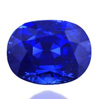 Top color, unheated Burmese blue sapphire. Oval cut of 3.05 carats. This vivid blue is what makes Burmese blue sapphires legendary.