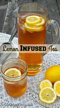Need to change up your tea? If you like lemons, be sure to check out this easy to make Lemon Infused Tea!  http://reusegrowenjoy.com/lemon-infused-tea/