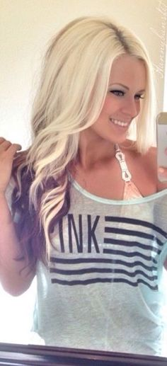 Blonde With Burgundy Color | I love hair!!! :) | Pinterest ...