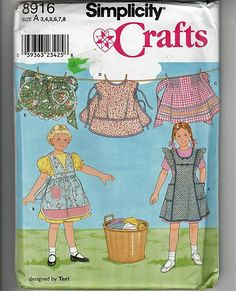 Child's Aprons and Smocks / Original Simplicity Crafts