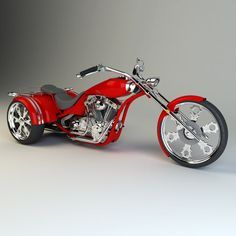 custom trike chopper model - Motocycle Pictures and Wallpapers Custom Trikes, Custom Sportster, Custom Choppers, Custom Motorcycles, Harley Davidson Images, Harley Davidson Trike, Trike Chopper, Lowrider Bicycle, Quad