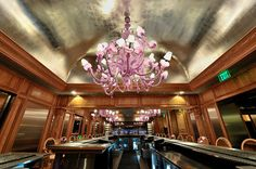 Miami Beach's Forge Restaurant: Funhouse Lighting >>by MySoBe.com, the site of South Beach Miami. http://www.andromedamurano.it/ #chandelier #interiors #design