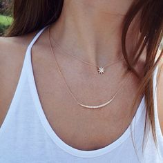 14kt gold petite starburst necklace – Luna Skye _____ The Star necklace is absoultly perfect!!!!
