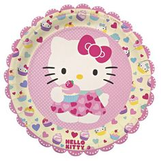 "Hello Kitty 9"" Party Plates"