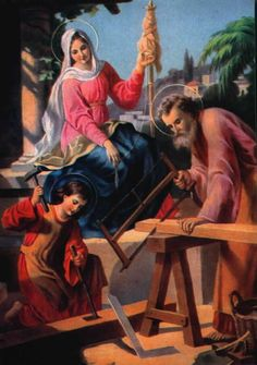 St Joseph, Mother Mary and Boy Jesus