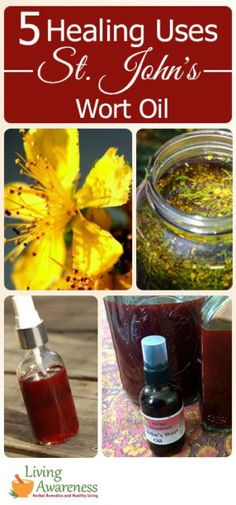 St. John's wort oil is one of my most used home remedies! It is a superb massage oil; but it also helps with cuts, scrapes, minor burns, sore muscles and growing pains. t